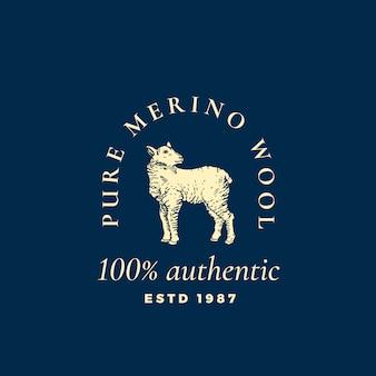 Logo pure merino wool