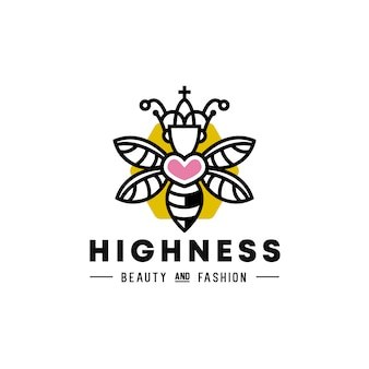 Logo queen bee heart