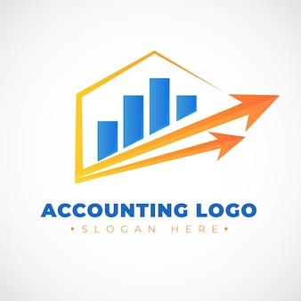Logo rachunkowości gradientu z wykresem