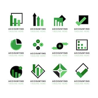 Logo rachunkowości w płaskiej konstrukcji