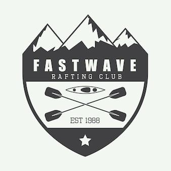 Logo raftingu, etykieta