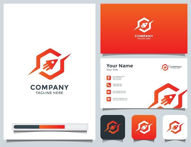 Logo rakiety i wizytówka
