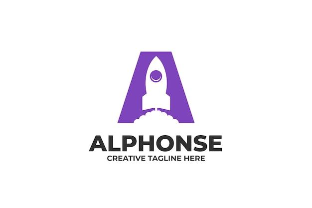 Logo rakiety z literą a
