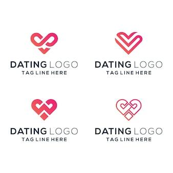 Logo randkowe ustawione dla firmy