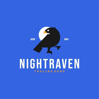 Logo raven bird