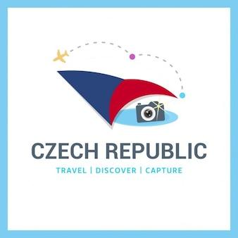Logo republika czeska travel