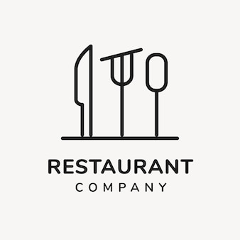 Logo restauracji, szablon biznesu spożywczego do projektowania marki wektora