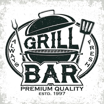 Logo restauracji vintage grill