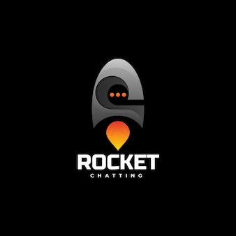 Logo rocket gradient