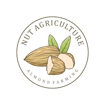 Logo roślin strączkowych dla sklepów lub rolnictwa