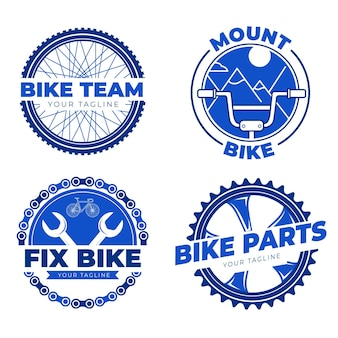 Logo roweru w płaskiej konstrukcji