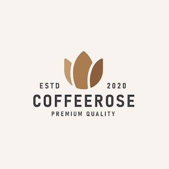 Logo róży kawy