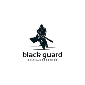 Logo rycerza, logo wojownika, logo straży, odniesienie do logo