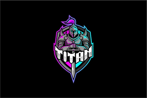 Logo rycerza titan