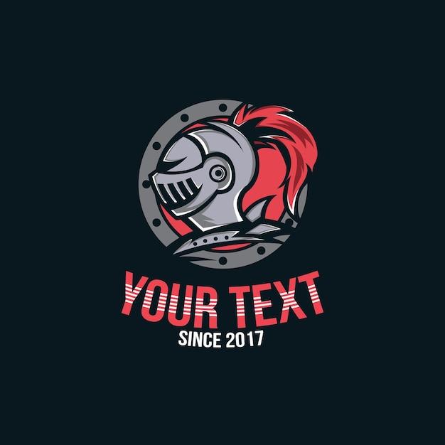 Logo rycerza, wojownik głowy rycerza dla logo gracza e-sportowego
