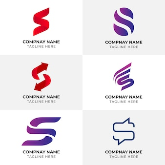 Logo s letter | szablon logo | logo firmy twórcze unikalne abstrakcyjne logo