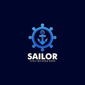 Logo sailor gradient kolorowy styl.
