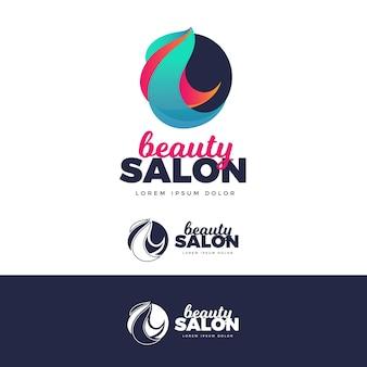 Logo salonu fryzjerskiego gradientu