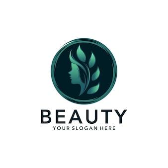 Logo salonu pielęgnacji włosów dla kobiet