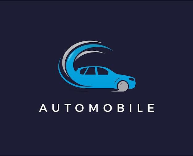 Logo samochodu logo samochodu sportowego projekt logo samochodu samochodowego z koncepcją ikony pojazdu sportowego silhouett
