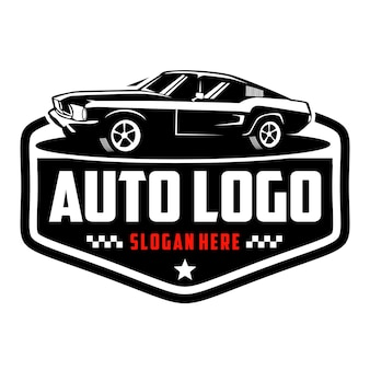 Logo samochodu mięśniowego