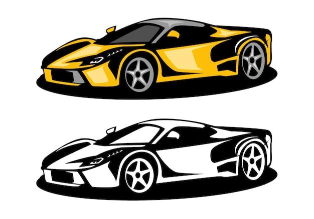 Logo Samochodu Mięśniowego Premium Wektorów