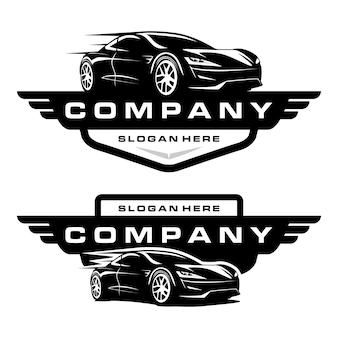 Logo samochodu sportowego