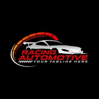 Logo samochodu wyścigowego