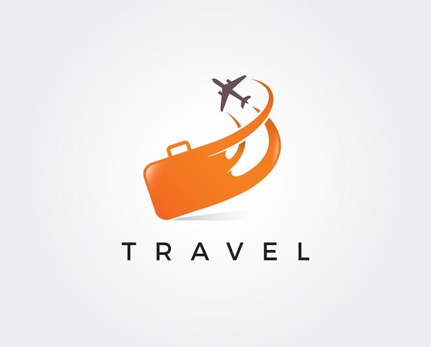 Logo samolotu i podróży. szablon ikon i symboli.