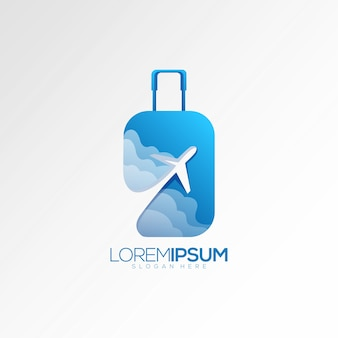 Logo samolotu walizki