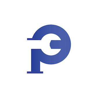Logo serwisu rurowego dla symbolu firmy hydraulicznej