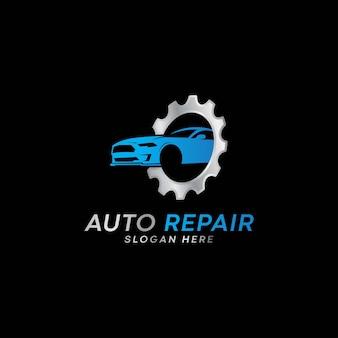 Logo serwisu samochodowego naprawy samochodów