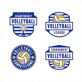 Logo siatkówka zawody kolekcja leaguae