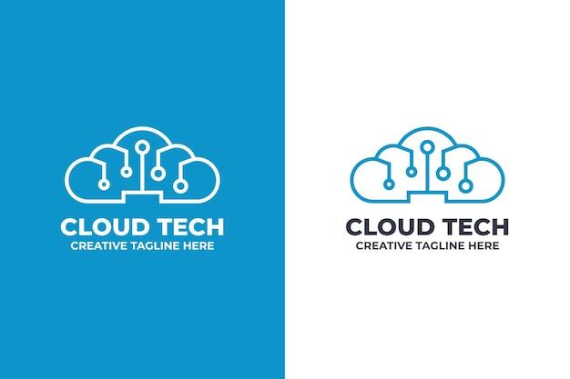 Logo sieci cyfrowej technologii chmury