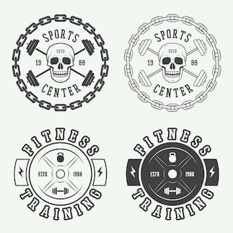 Logo siłowni, etykiety i odznaki