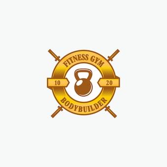Logo siłowni fitness siłownia