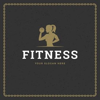 Logo siłowni fitness