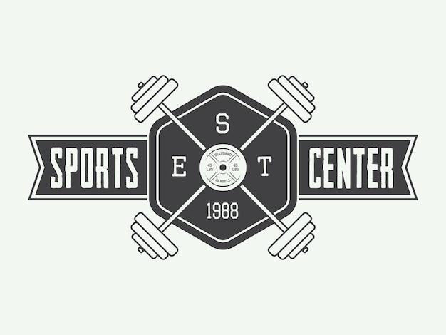 Logo siłowni i