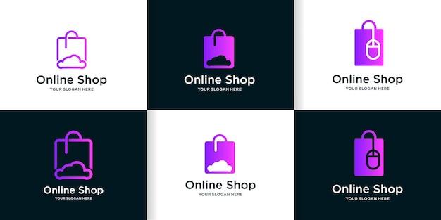 Logo sklepu internetowego z pomysłem na chmurę i mysz