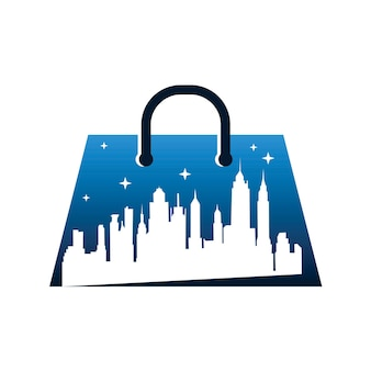 Logo sklepu nocnego w mieście