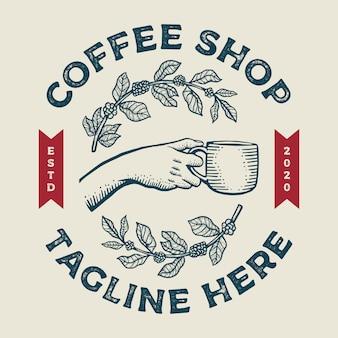 Logo sklepu z kawą