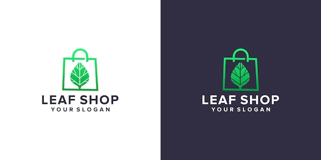 Logo sklepu z liśćmi