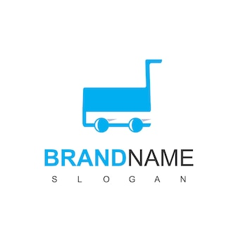 Logo sklepu z symbolem wózka