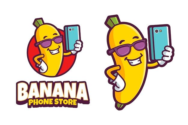 Logo sklepu z telefonami bananowymi