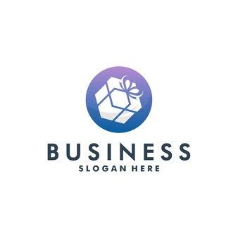 Logo sklepu z upominkami nowoczesny design wektor
