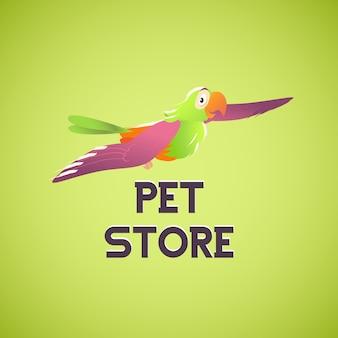 Logo sklepu zoologicznego. ilustracja.