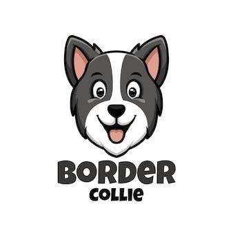 Logo sklepu zoologicznego, opieki nad zwierzętami lub własnego psa z border collie