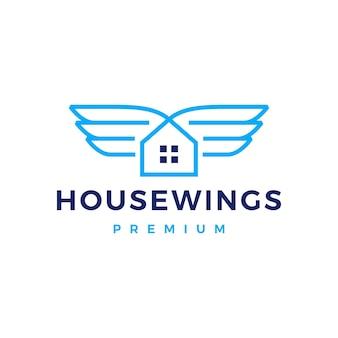 Logo skrzydła domu domu