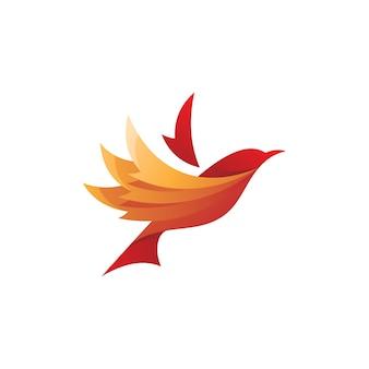 Logo skrzydła ptaka latającego