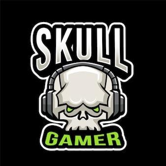 Logo skull gamer esport